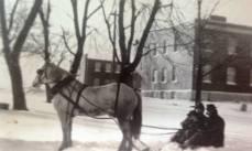 Horse drawn sledding at the Infirmary