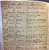 Marriage Record, 1823