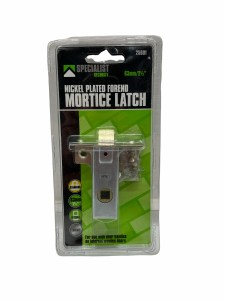 """Nickle Plated Forend 63mm/21/2"""" Mortice Latch 25601"""