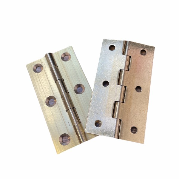 Pair of Solid Drawn Brass Hinge 75mm