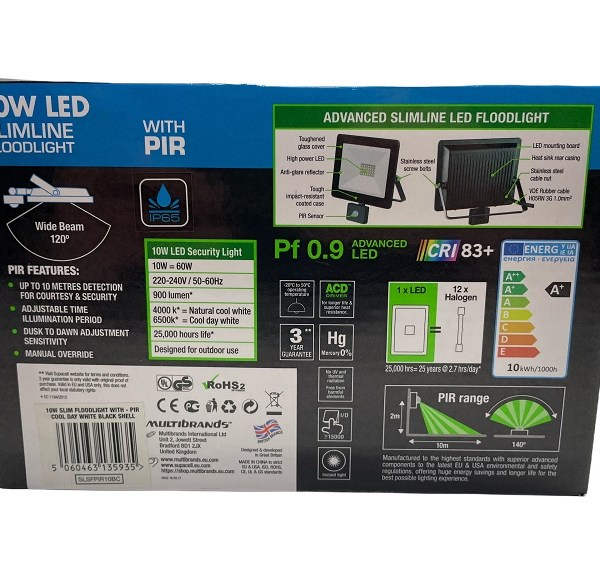 Supacell Slimlime Floodlight LED With Pir