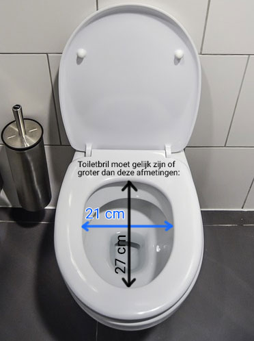 toiletbril afmetingen