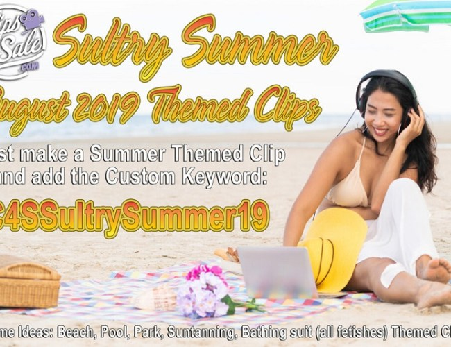 Clips4Sale Sultry Summer Themed Clip Promotion: August, 2019