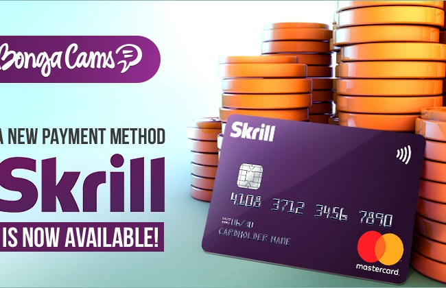 BongaCams Adds Skrill For Token Purchases
