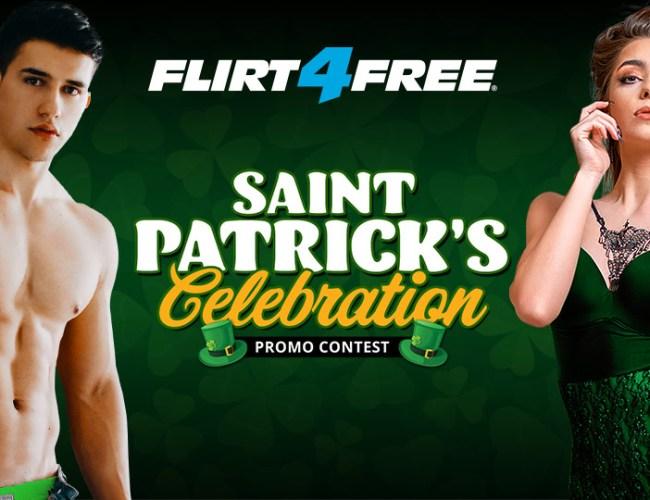 Flirt4Free St. Patrick's Day Celebration Promo And Contest 2020