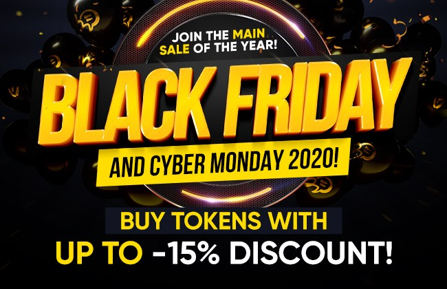 BongaCams Black Friday / Cyber Monday Token Sale