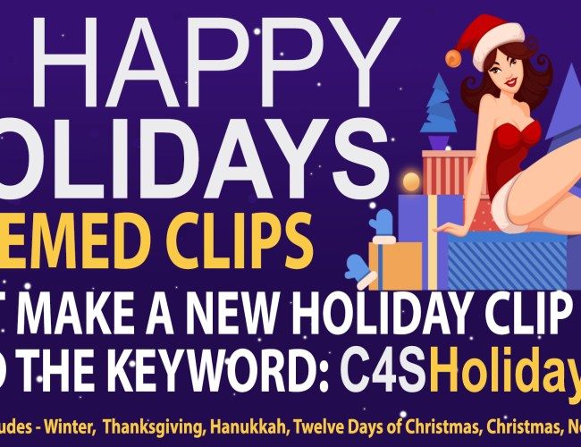 """Clips4Sale """"Happy Holidays"""" Clip Promotion (ends Jan. 5, 2021)"""