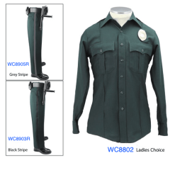 Elbeco Textrop Spruce Green Long Sleeve Uniform Shirt For Women