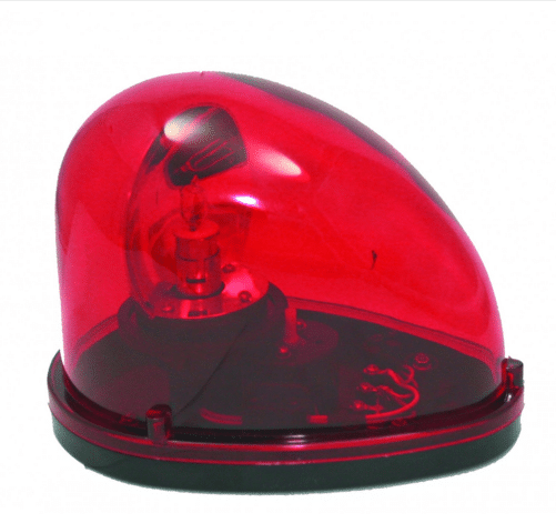 Red Flashing TearDrop Beacon