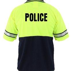 First Class Uniforms High-Visibility Bike Patrol Polo Shirt