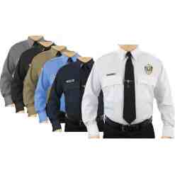 First Class Uniforms Poly Cotton Long-Sleeve Uniform Shirt