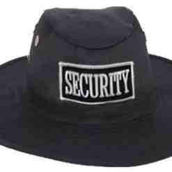 Security Campaign Hat Black with White or Gold ID