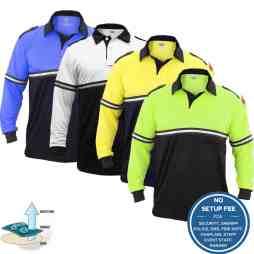 Two-Tone Long Sleeve Bike Patrol Shirt with Zipper Pocket