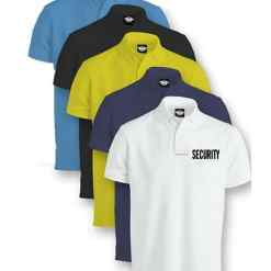 Security Tactical Performance Polo Shirts Sky Blue Black White Yellow Navy Blue