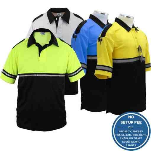 Two-Tone Bike Patrol Shirt with Zipper Pocket