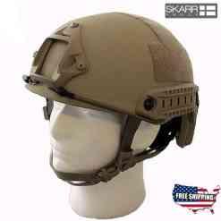SkarrArmor NIJ iiia/V50 Helmet Desert Tan