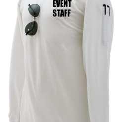 EVENT STAFF Preshrunk Cotton Tactical Long Sleeve Polo Shirt