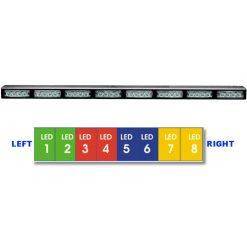 """38 ¼"""" Custom 8 LED Module Streamlined Ultra Slim Weatherproof Arrowstick"""