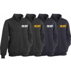 First Class Fire Dept Fleece Job Shirt with Zipper