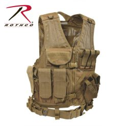 Rothco Cross-Draw MOLLE Coyote Brown Tactical Vest 4491