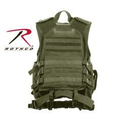 Rothco Cross-Draw MOLLE Olive Drab Tactical Vest 4591
