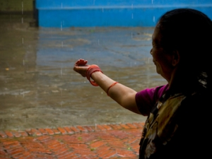 Mitthu Didi in the Vineyard courtyard.