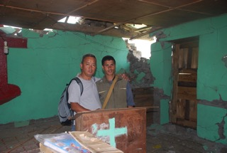 Noel & Pastor Prem in Gadlang church building