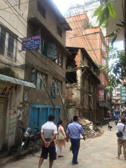 The street outside Fulmaya Didi's home.