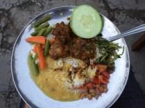 The delicious farewell plate in Kathmandu Vineyard