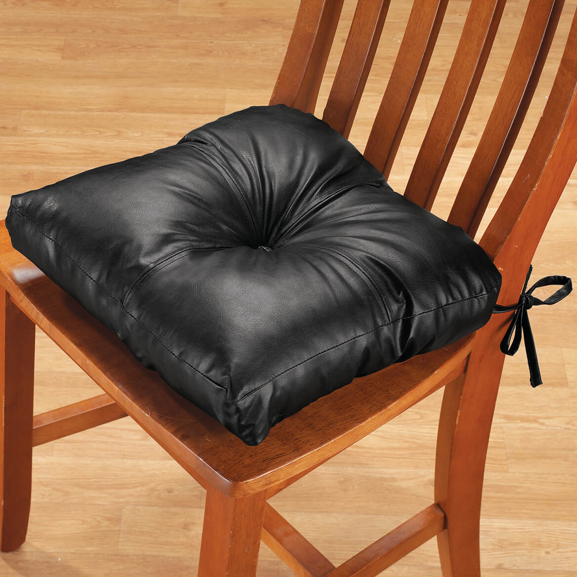 faux leather chair pads first high pad dining cushion walter drake