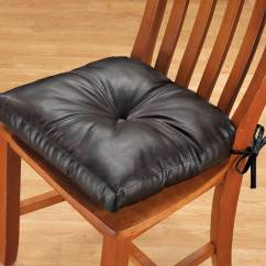 Leather Chair Cushions Swing On Sale Faux Pad Dining Cushion Walter Drake