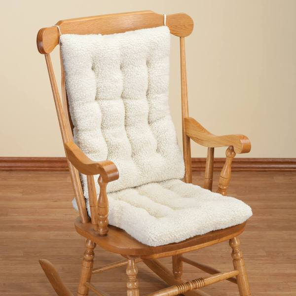 Sherpa Rocking Chair Cushion Set - Pads Walter Drake