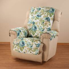 Microfiber Recliner Chair Covers For Lifetime Folding Chairs English Floral Cover
