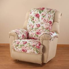 Microfiber Recliner Chair Covers Massage Lease English Floral Cover