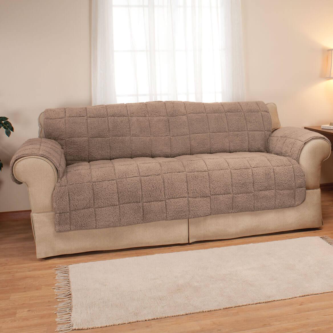 waterproof sofa protector records cologne sherpa by oakridge walter drake