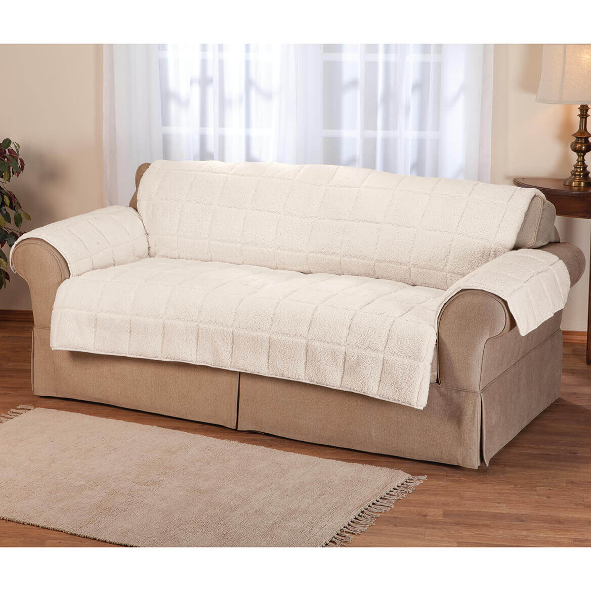 waterproof sofa protector build your own table sherpa by oakridge walter drake
