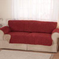 Plush to Suede Waterproof Sofa Protector - Walter Drake