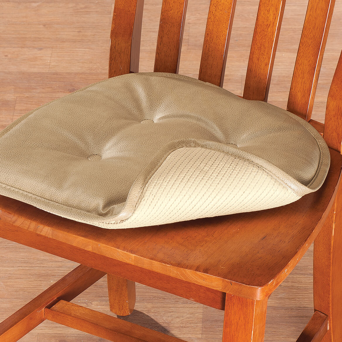 faux leather chair pads personalized folding no minimum st germaine pad w gripper