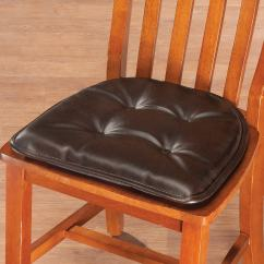Faux Leather Gripper Chair Cushions Attachable High St Germaine Pad W