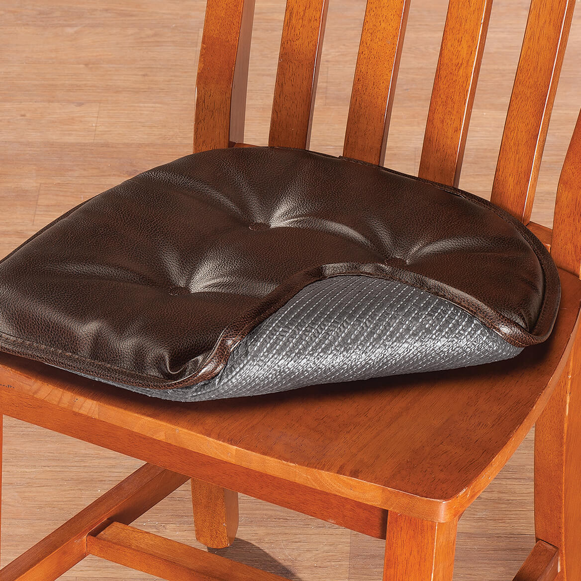St Germaine Faux Leather Chair Pad wGripper  Chair Pad