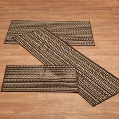 3 Piece Kitchen Rug Set White Table Berber Striped Sets Walter