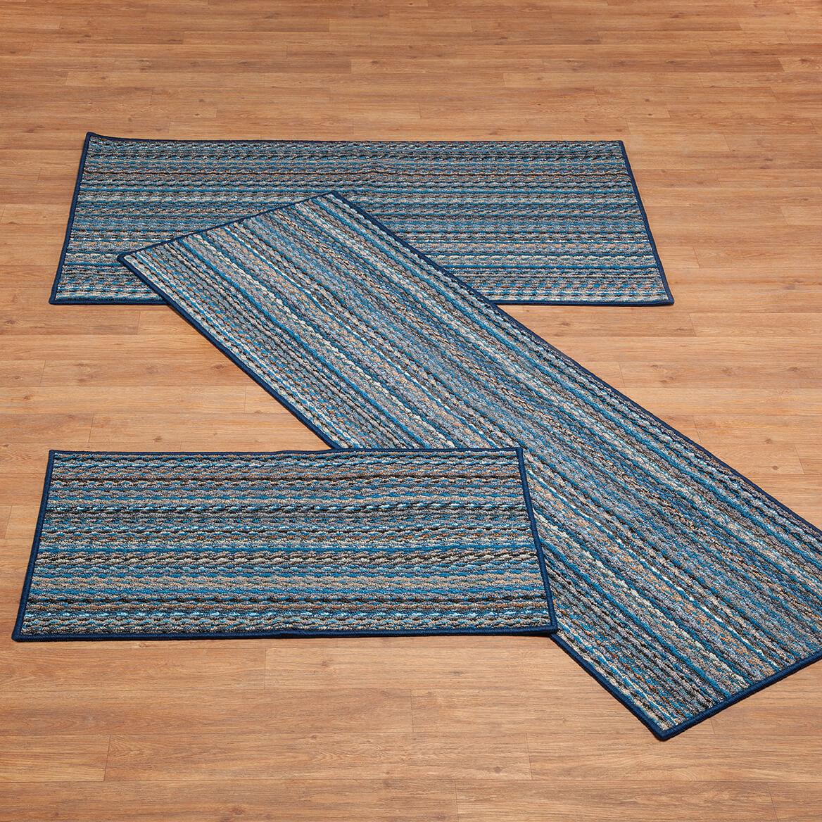 3 piece kitchen rug set foldable cart berber striped sets walter