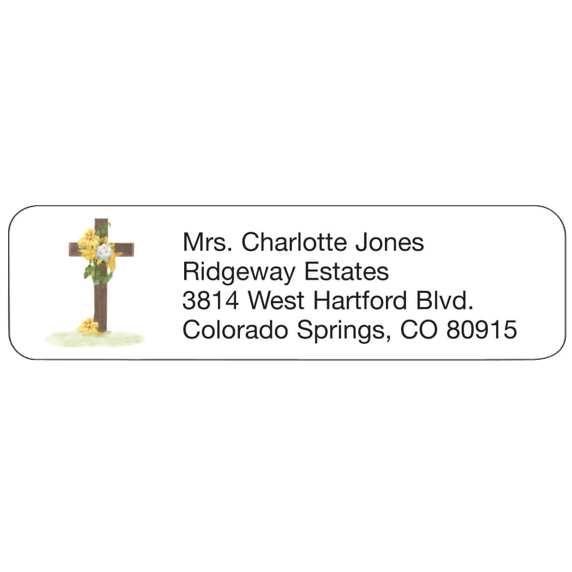 cross personalized address labels