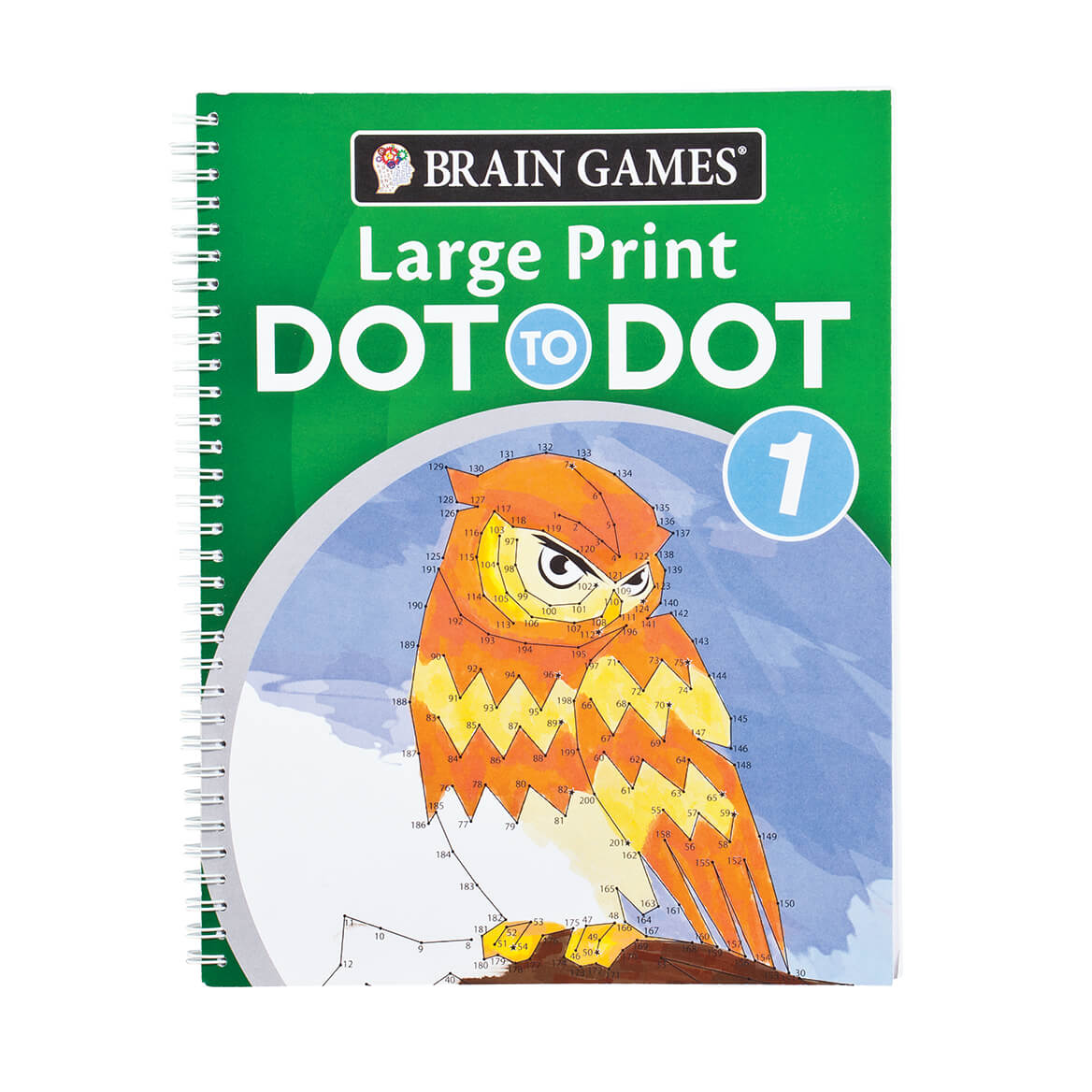 Brain Games Large Print Dot To Dot Version 1 Owl Cover