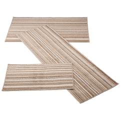 3 Piece Kitchen Rug Set Wholesale Faucets Berber Striped Sets Walter