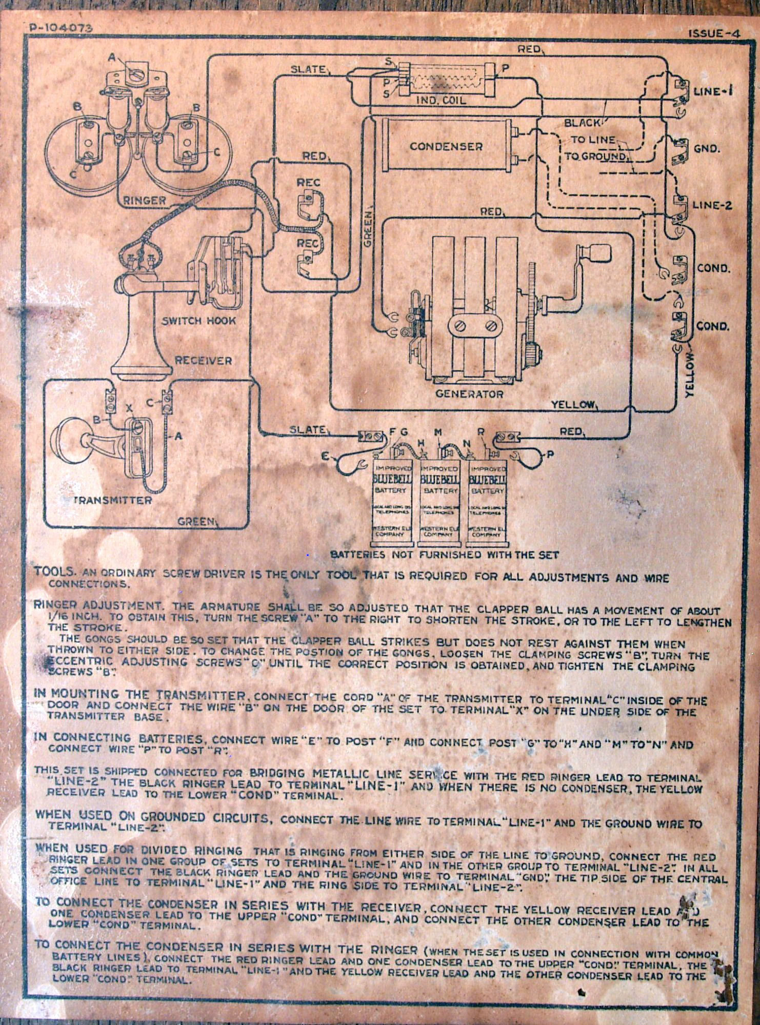 Antique Telephone Wiring Diagrams Old Telephone Wiring Diagrams ...