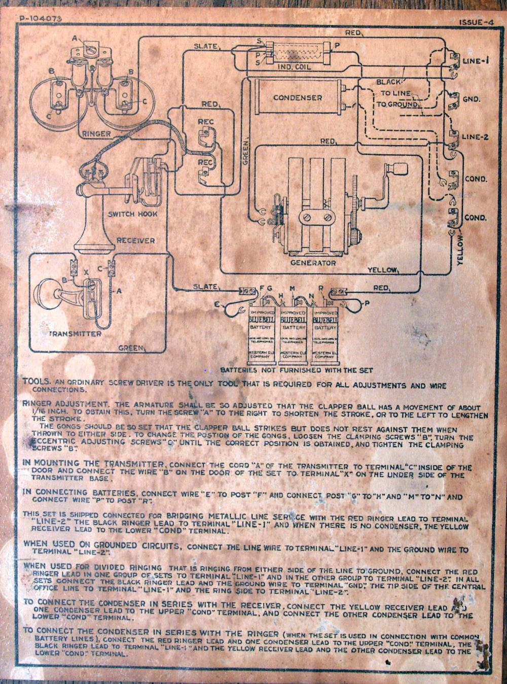 medium resolution of diagram of the old telephone