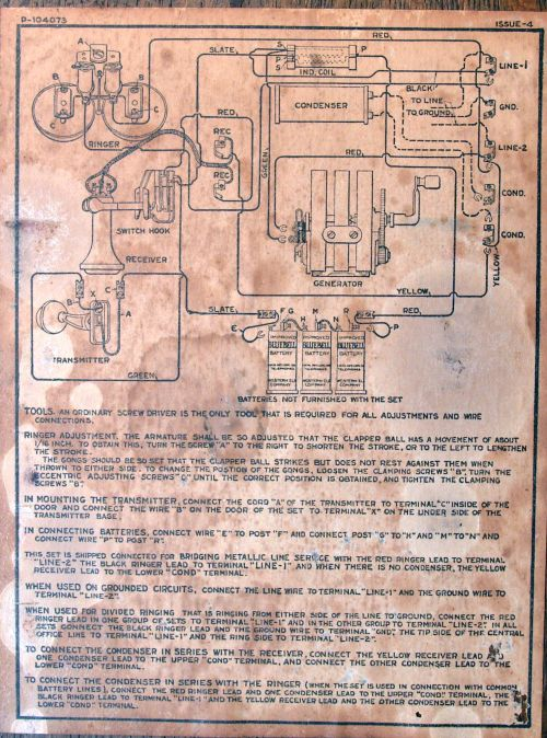 small resolution of diagram of the old telephone