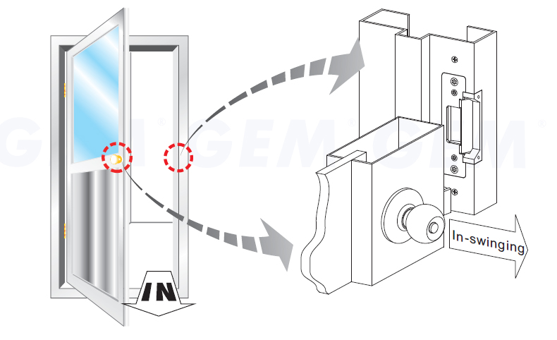 Sentry E. Labs Electric Strike for Metal Door Frame w