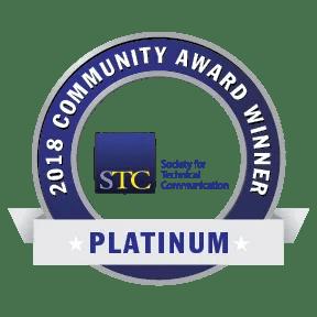 Transparent graphic of STC CAA 2018 Platinum Award